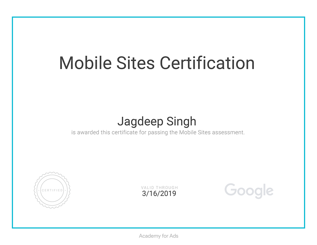 Mobile Certification